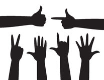 Segni della mano Fotografia Stock
