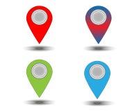 Segni della mappa del sito Web Fotografie Stock Libere da Diritti