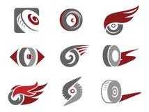 Segni della rotella illustrazione vettoriale
