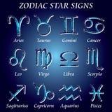 Segni della stella dello zodiaco Fotografie Stock Libere da Diritti