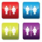 Segni della toilette Fotografia Stock