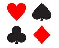 Segni delle carte da gioco Fotografie Stock