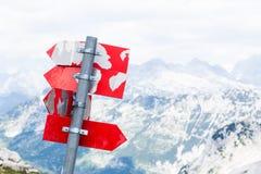Segni delle montagne della Slovenia Fotografie Stock Libere da Diritti