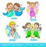 Segni 1 dello zodiaco Fotografie Stock Libere da Diritti