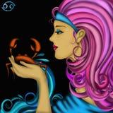 Segni dello zodiaco - Cancro royalty illustrazione gratis
