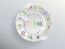 Segni dello zodiaco Cerchio dello zodiaco Immagini Stock