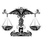 Segni dello zodiaco - disegno di Pisces.Tattoo. Immagini Stock