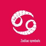 Segni di astrologia del Cancro dello zodiaco Fotografia Stock