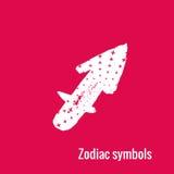 Segni di astrologia del Sagittario dello zodiaco Immagine Stock