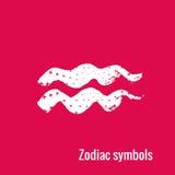 Segni di astrologia dell'acquario dello zodiaco Fotografia Stock