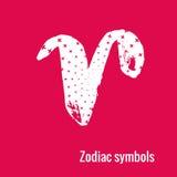 Segni di astrologia dell'Ariete dello zodiaco Immagine Stock Libera da Diritti