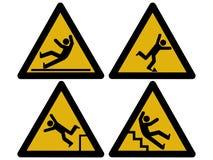 Segni di avvertenza Fotografia Stock