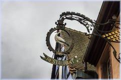 Segni di commercio dell'Alsazia Fotografia Stock Libera da Diritti