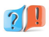 Segni di domande e risposte Fotografia Stock Libera da Diritti