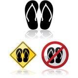 Segni di Flip-flop illustrazione di stock
