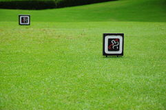 Segni di golf fotografia stock libera da diritti