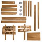 Segni di legno illustrazione vettoriale