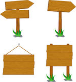 Segni di legno Fotografie Stock