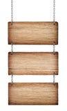 Segni di legno d'annata Fotografie Stock Libere da Diritti