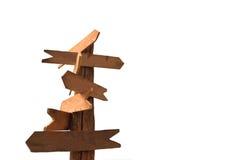 Segni di legno delle frecce Immagini Stock