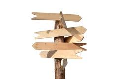 Segni di legno delle frecce Fotografie Stock