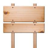 Segni di legno isolati, Fotografia Stock