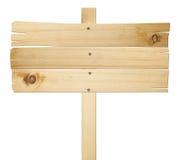 Segni di legno isolati su priorità bassa bianca. Fotografie Stock