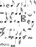 Segni di musica Immagine Stock Libera da Diritti