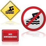 Segni di nuoto royalty illustrazione gratis