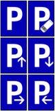 Segni di parcheggio Immagine Stock Libera da Diritti