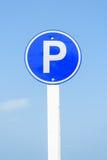 Segni di parcheggio Fotografia Stock Libera da Diritti