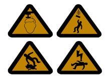 Segni di rischio della costruzione Fotografia Stock