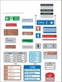 Segni di riserva di salute e sicurezza sul lavoro di vettore, insegna d'avvertimento royalty illustrazione gratis