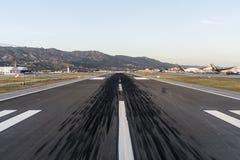 Segni di scivolo della pista dell'aeroporto Fotografia Stock Libera da Diritti
