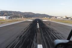 Segni di scivolo della pista dell'aeroporto Burbank California Fotografie Stock