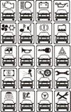 Segni di servizio dell'automobile illustrazione di stock