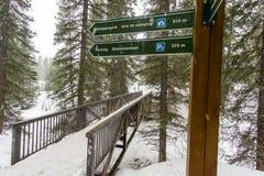 Segni di Snowy fotografia stock libera da diritti