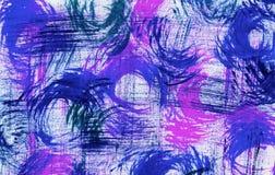 Segni di spazzola turbinati in blu e nel rosa Fotografie Stock