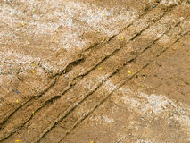 Segni di Tiro sulla sabbia Immagine Stock Libera da Diritti