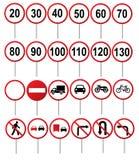 Segni di traffico stradale Fotografie Stock Libere da Diritti