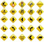 Segni di traffico stradale Immagini Stock