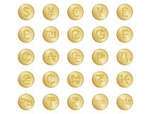 Segni di valuta Immagine Stock Libera da Diritti