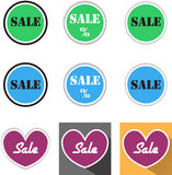 Segni di vendita Fotografia Stock Libera da Diritti