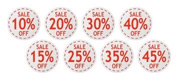 Segni di vendita di vettore Immagini Stock Libere da Diritti
