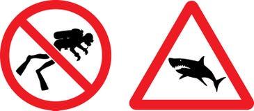 Segni di vettore di prevenzione e di divieto Fotografia Stock