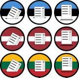 Segni di voto negli stati baltici Immagini Stock