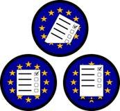 Segni di voto nell'UE Immagini Stock