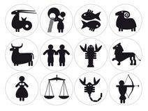 Segni di zodiaco Fotografie Stock Libere da Diritti