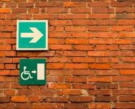 Segni disabili inviati fotografia stock libera da diritti