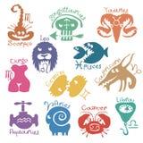 Segni divertenti dello zodiaco Immagini Stock